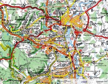 carte thionville cliquer pour voir la carte sur viamichelin - Chateau De Wendel Hayange Mariage